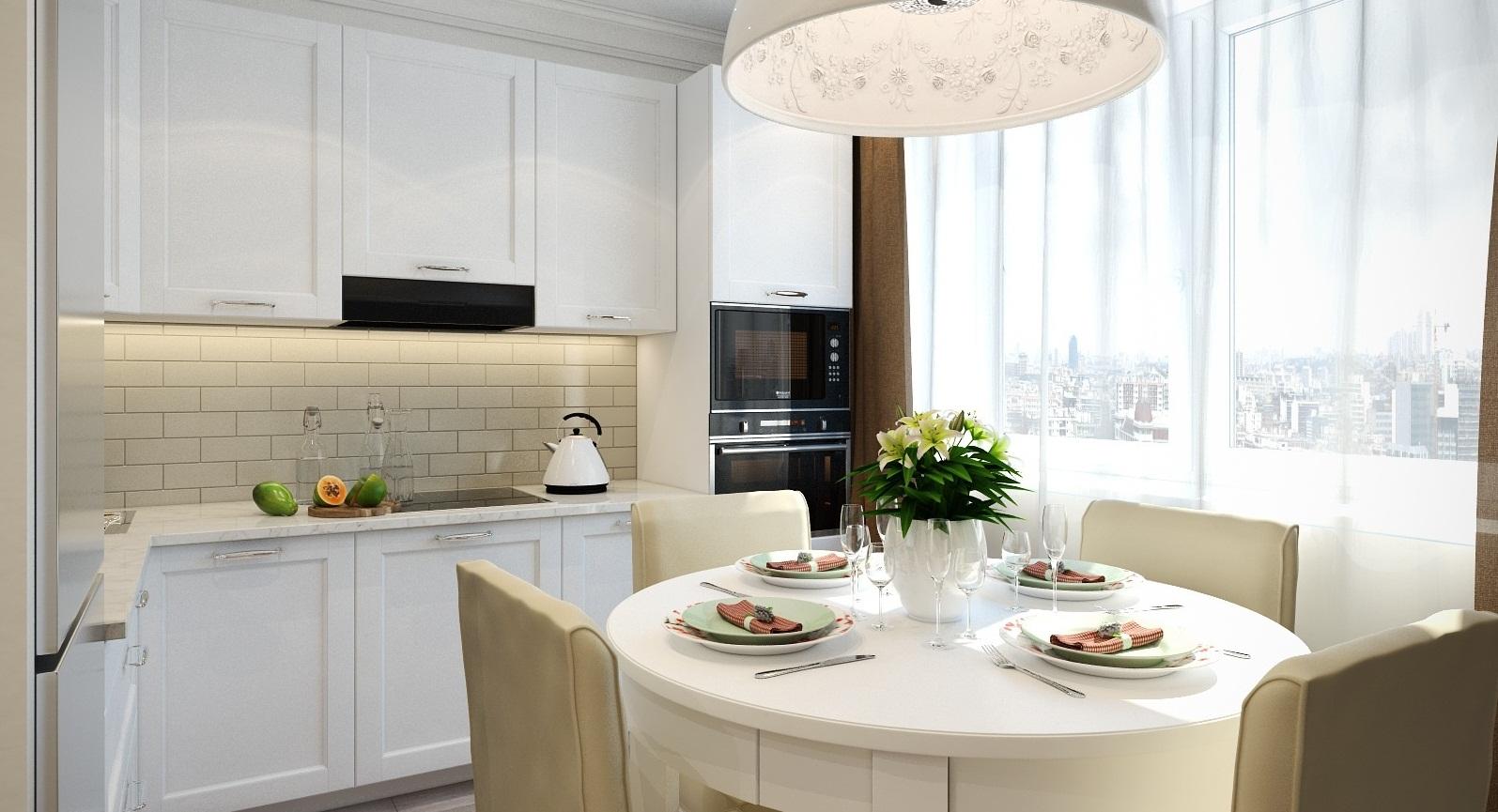 Как правильно расставить мебель на кухне 9 метров фото своими руками