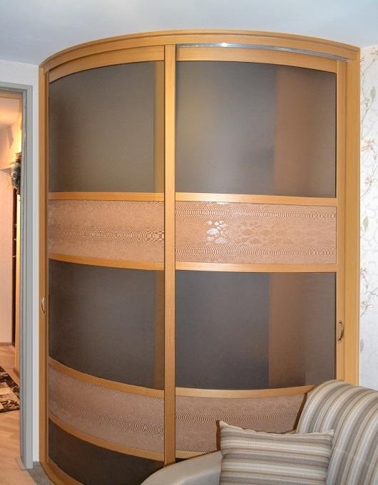 Радиусный шкаф купе (108 фото): угловой полукруглый, радиаль.