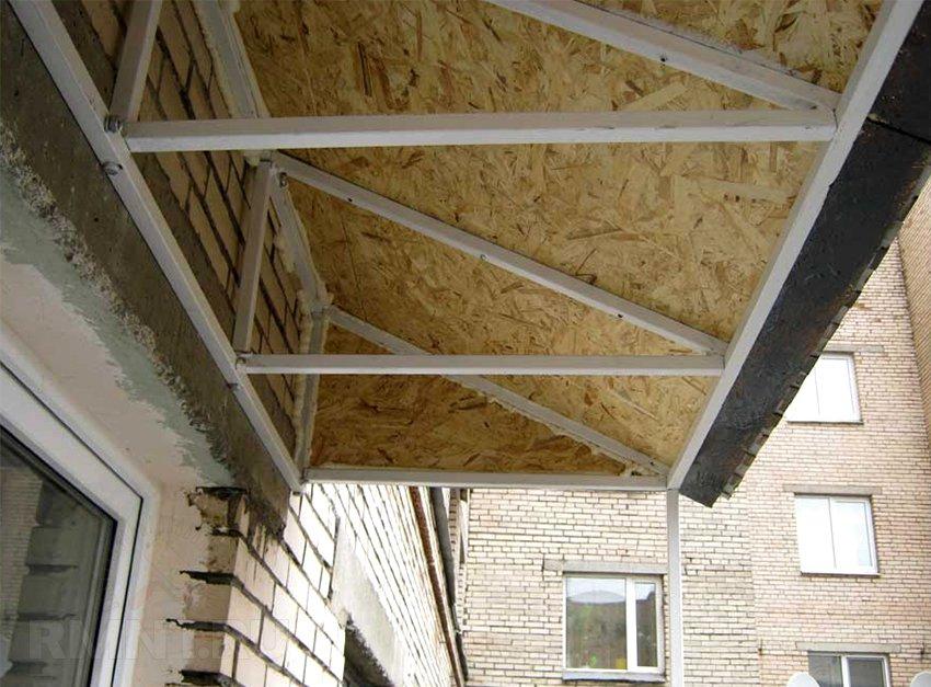 Как сделать крышу балкона последнего этажа своими руками 674