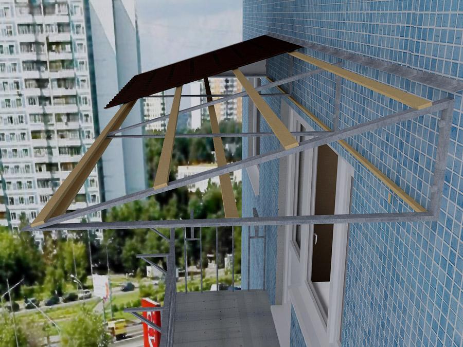 Крыша балкон последний этаж своими руками