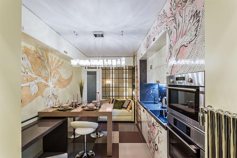 Роспись стен на кухне (46 фото): художественная роспись в ст.