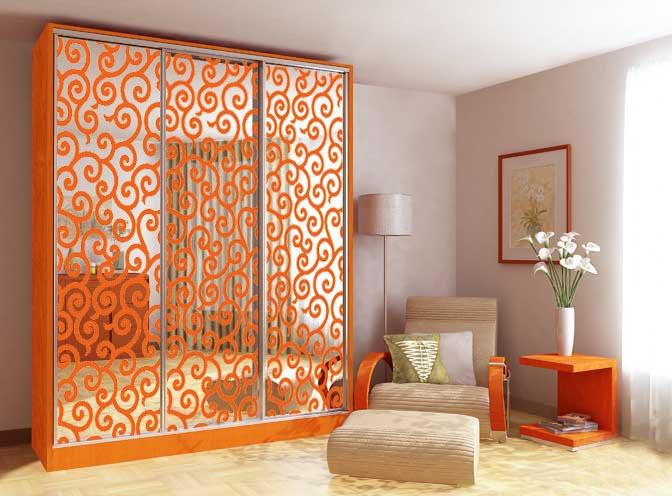 Дизайн дверей шкафов-купе спечатью