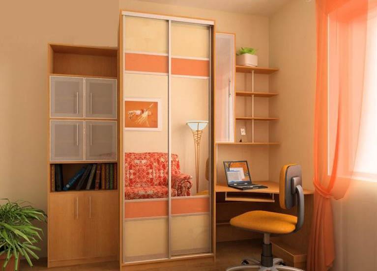 Шкаф-купе в комнату (73 фото): дизайн идеи в однокомнатной к.
