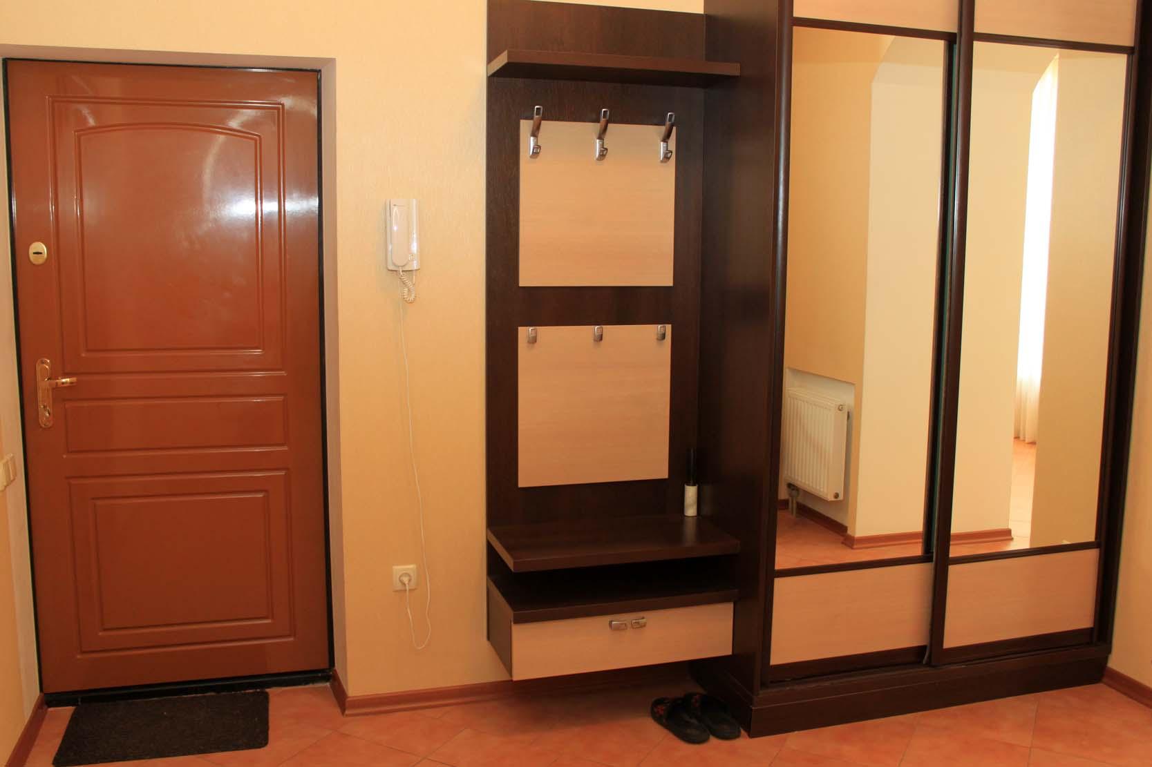 Дизайн прихожей в квартире шкаф-купе