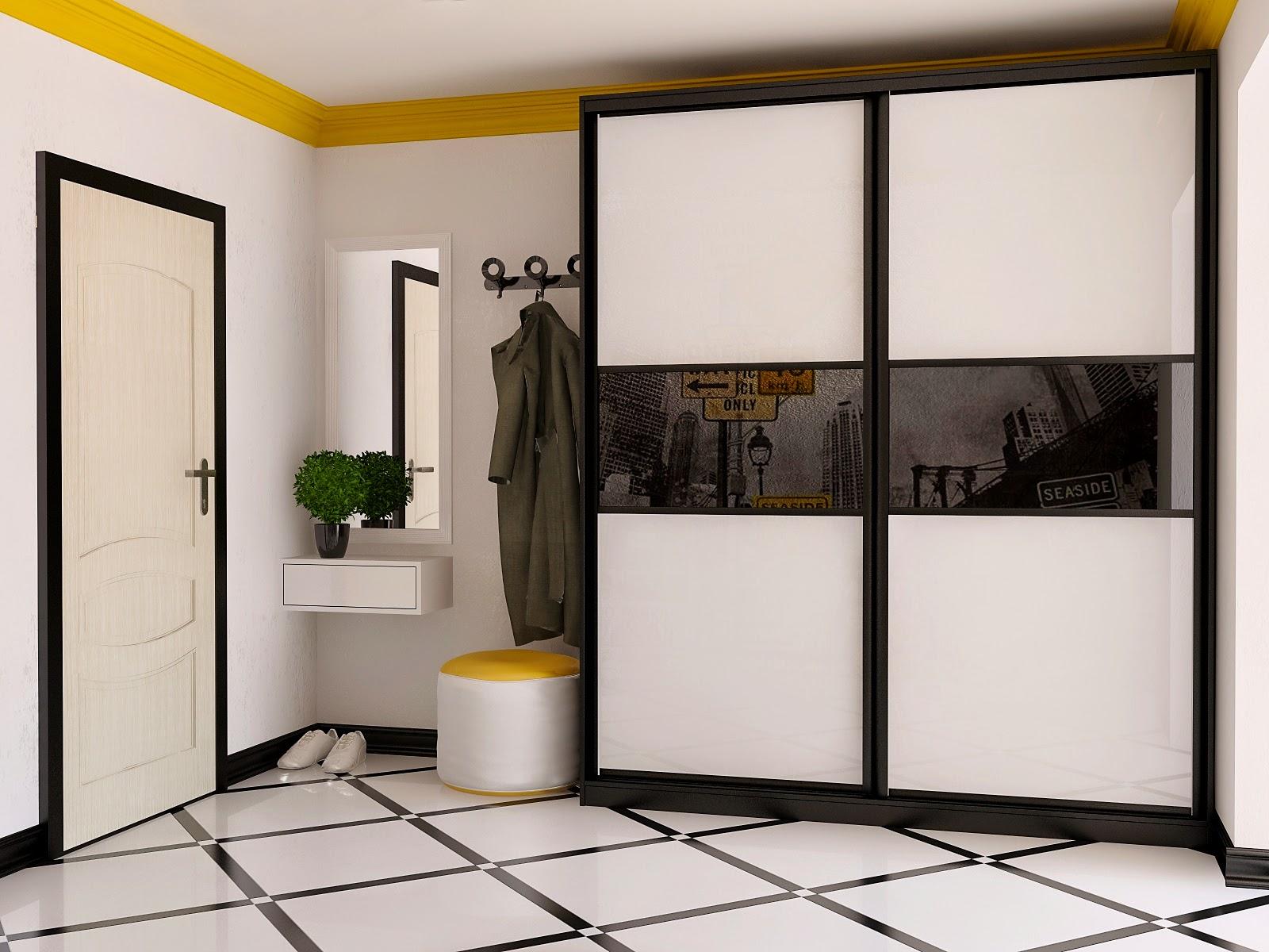 Шкаф-купе в прихожую - идеи дизайна (55 фото): проект интерь.