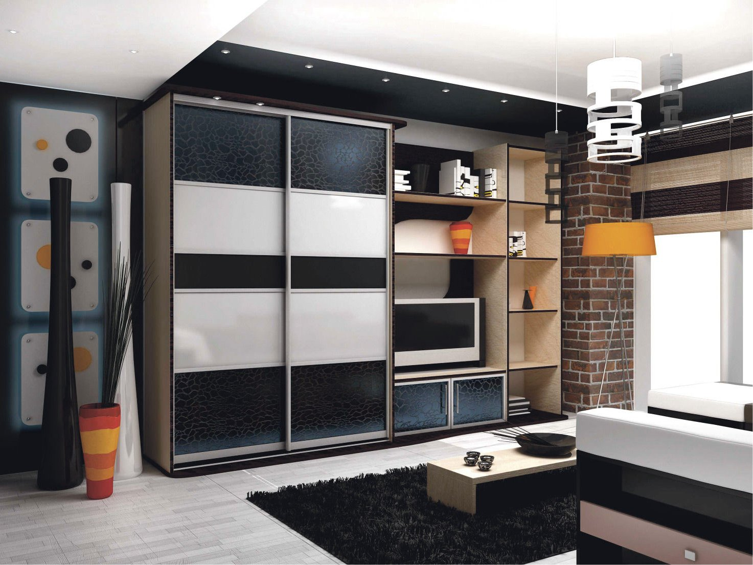 шкаф купе в зал 45 фото дизайн стенки в интерьере хрущевки