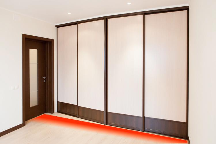 Шкаф-купе во всю стену (44 фото): в гостиную и зал шкаф от п.