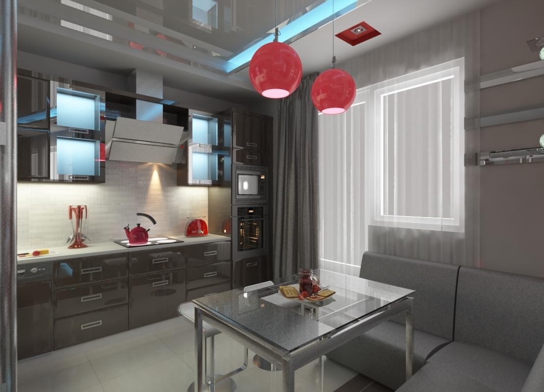 Стильный дизайн кухни фото