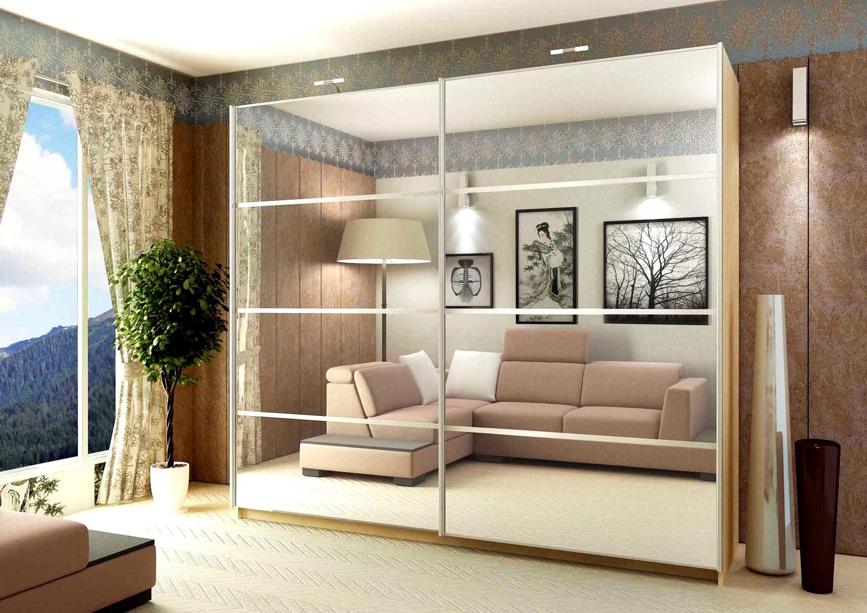 Шкафы-купе в интерьере гостиной (50 фото): идеи дизайна - фо.