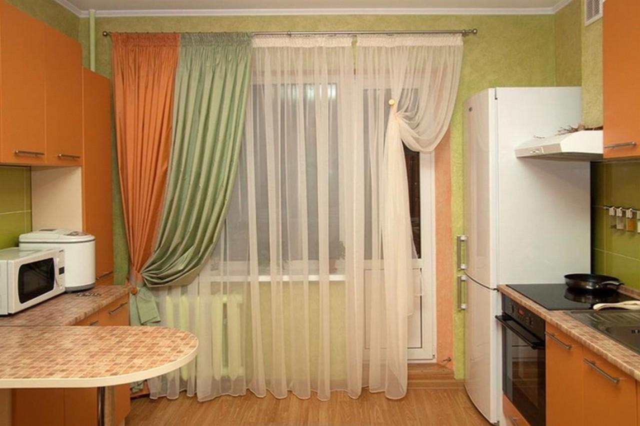 Как правильно выбрать шторы на кухню, с балконной дверью, ка.