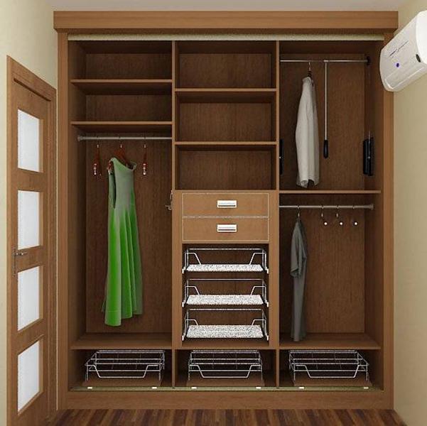 Шкаф для прихожей внутри дизайн