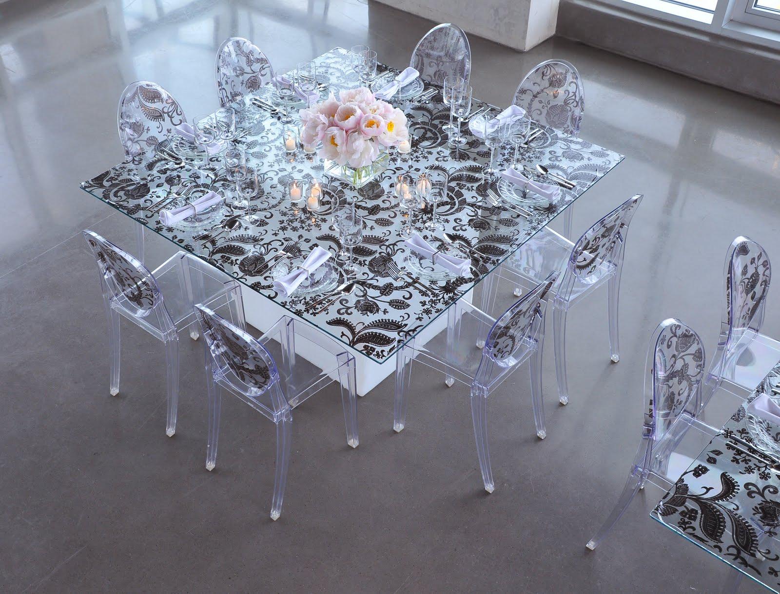 Фото стеклянных столов оформление