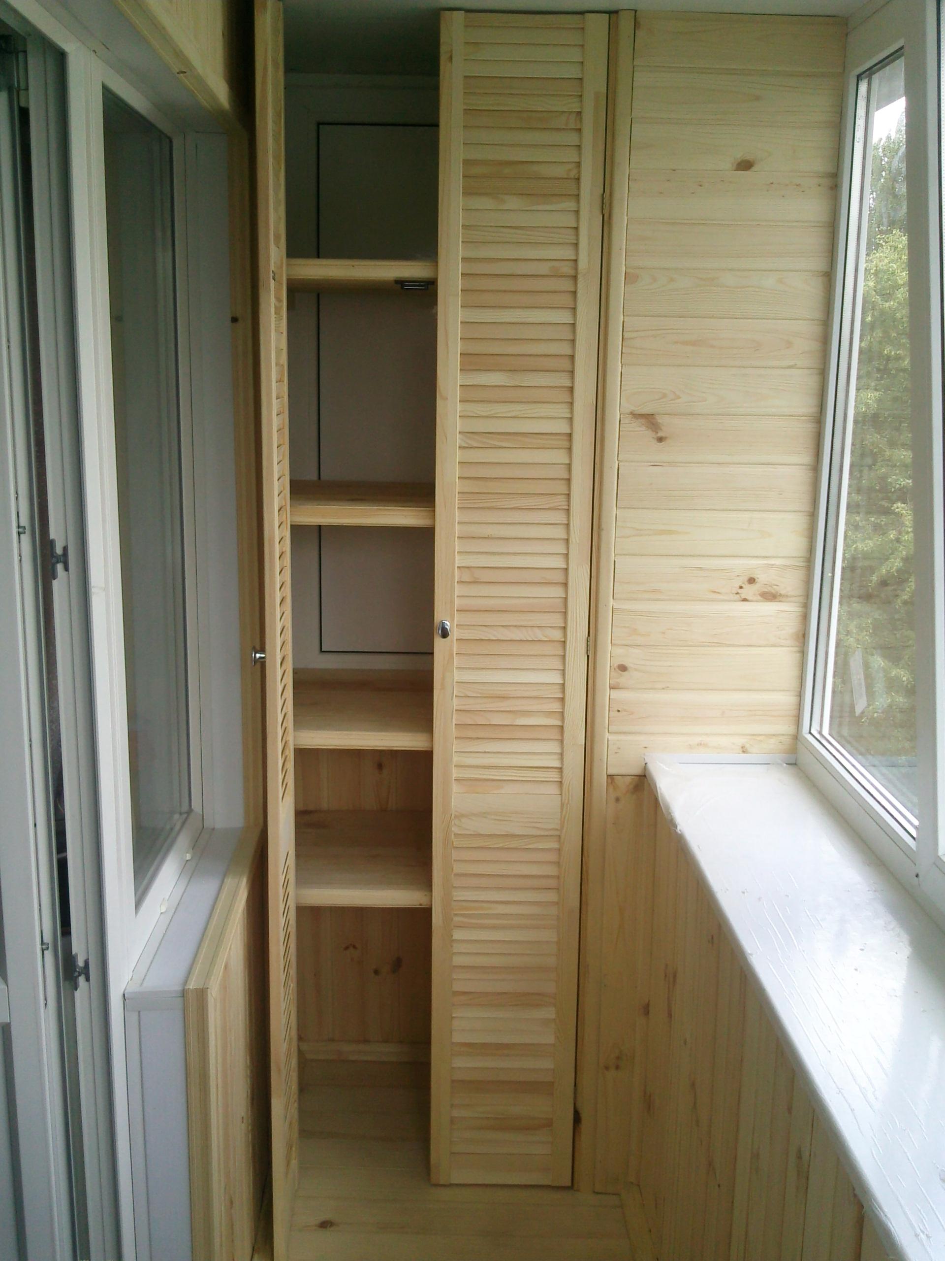 Шкаф на балконе своими руками: как сделать - фото и видео.