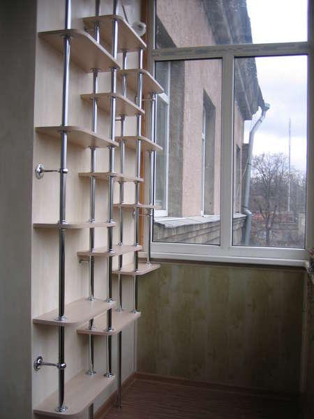 полки на балконе своими руками фото