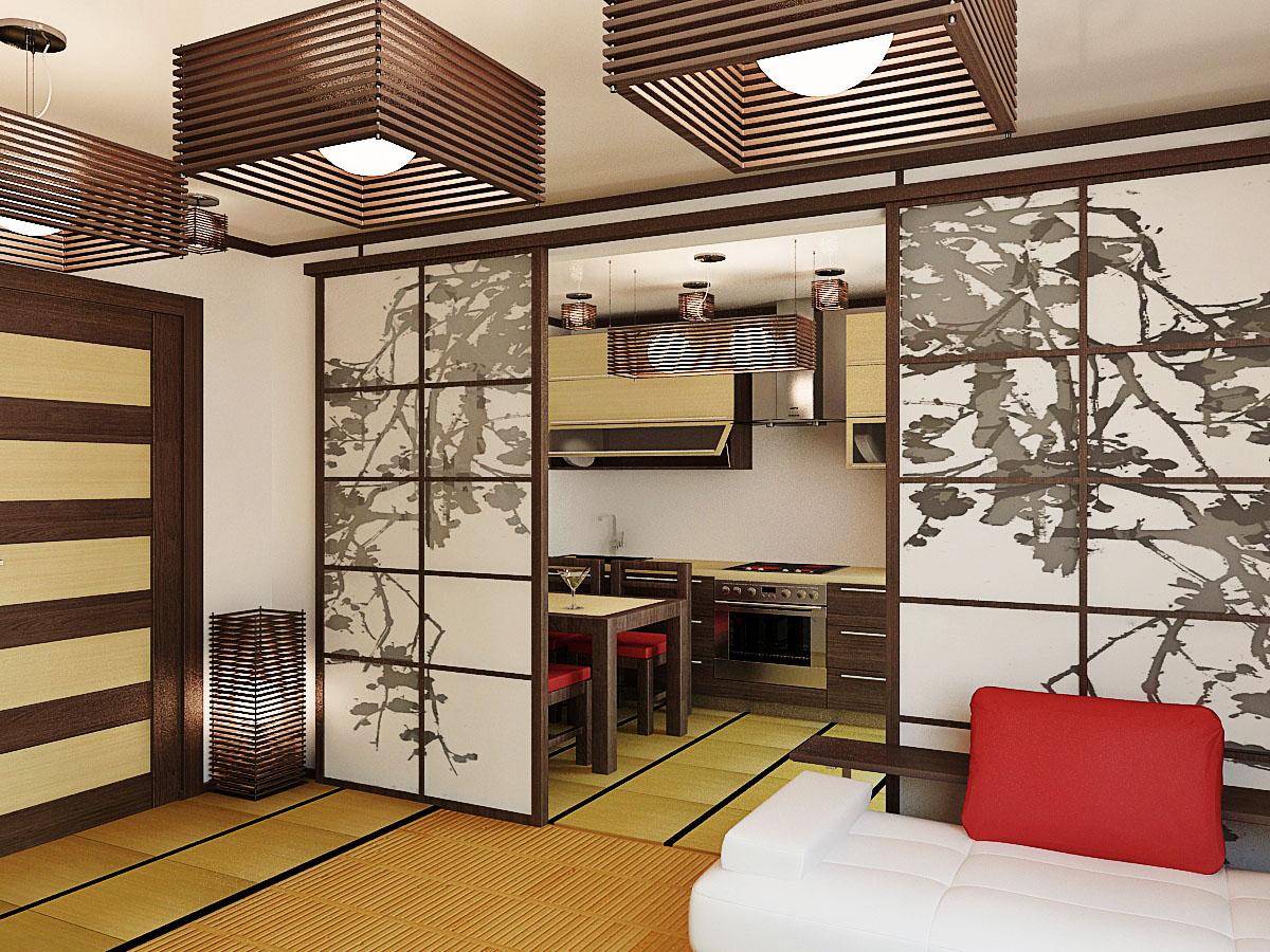 Японский дизайн в квартире