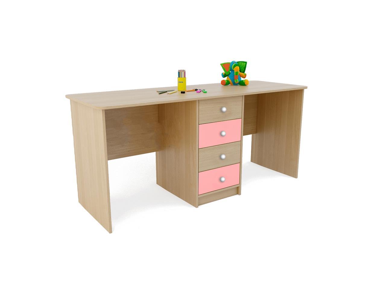 Стол для двоих детей с ящиками оранси ufokids купить.