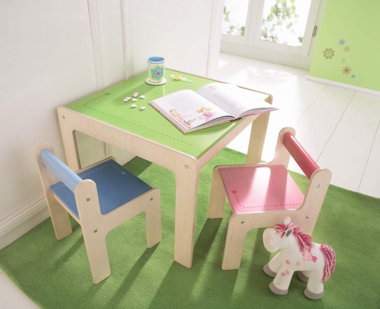 Haba стул детский точки, голубой. детская мебель. арт. 8476..