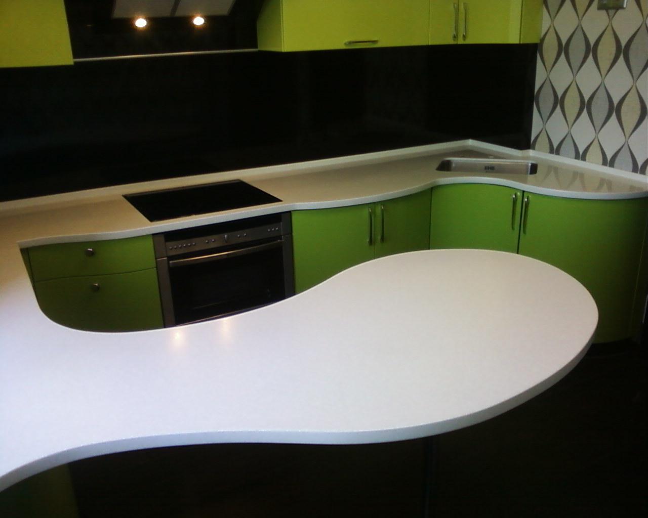 Стол из искусственного камня на кухню (55 фото): кухонный ст.