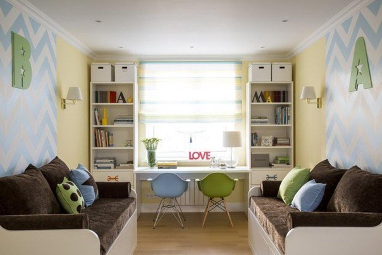 Дизайн детской комнаты для 2 мальчиков 70 фото комнат.