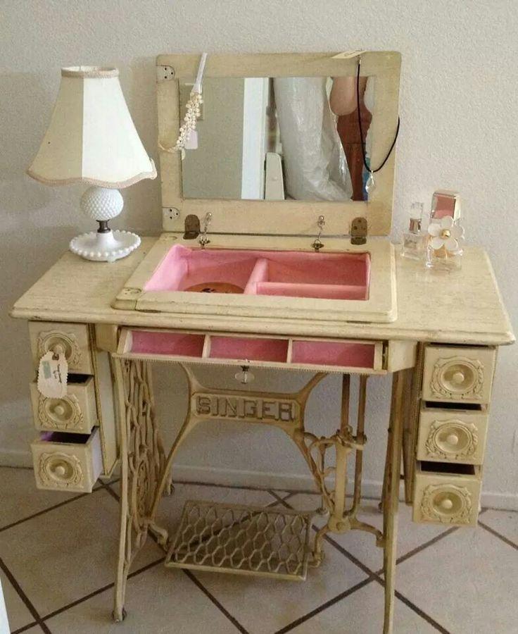 Столик своими руками из старой швейной машинки