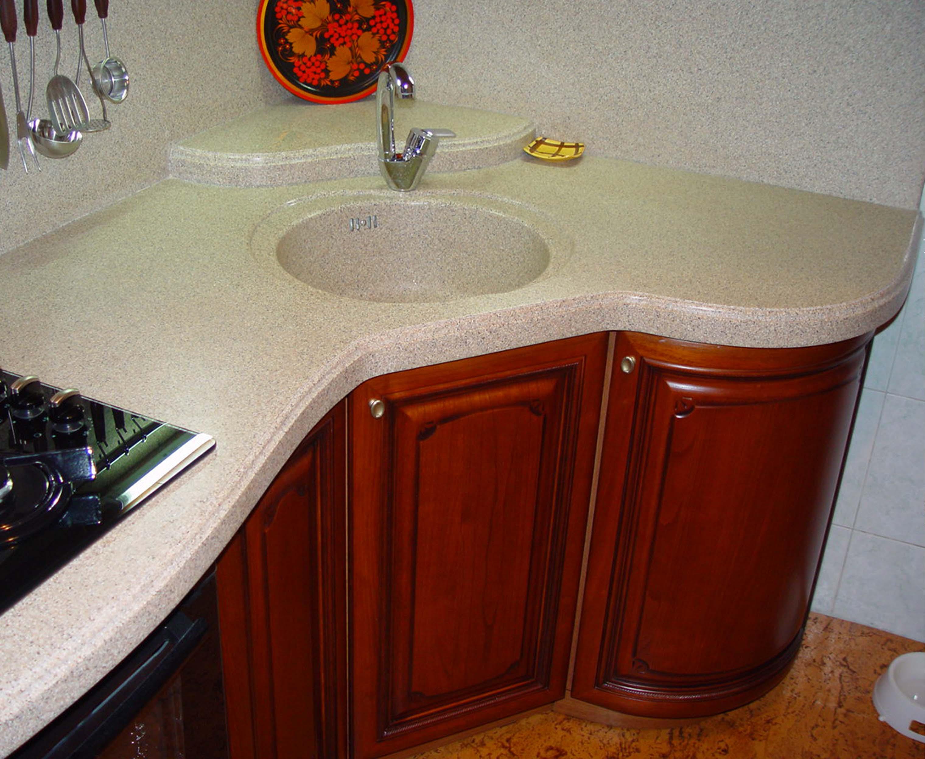 Столешницы для кухни из искусственного камня в санкт-петербу.