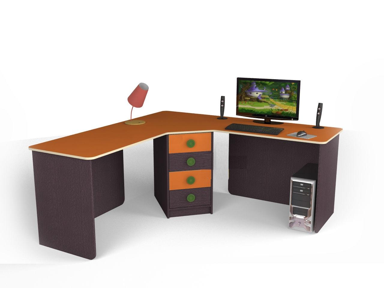 """Угловой стол для двоих детей c005o из коллекции """"детская меб."""