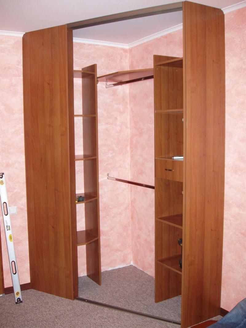 Угловой шкаф-купе своими руками (31 фото): как сделать, черт.