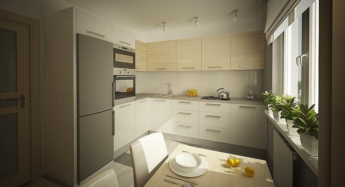 Кухня 9 квадратов угловая дизайн