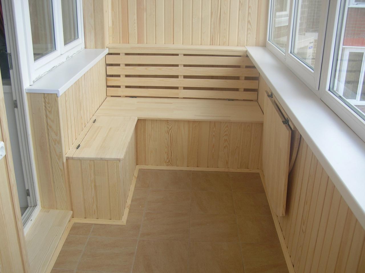 Мебель балкона своими руками