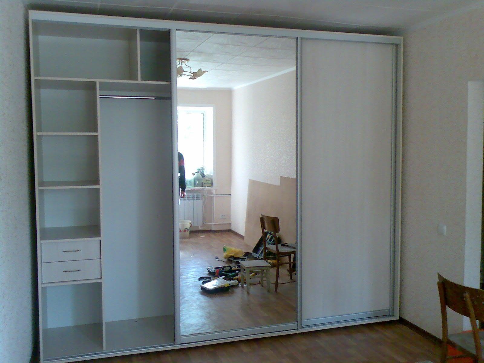 Фото как самостоятельно сделать встроенный шкаф.
