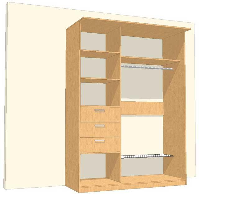 Встроенный шкаф своими руками из дсп