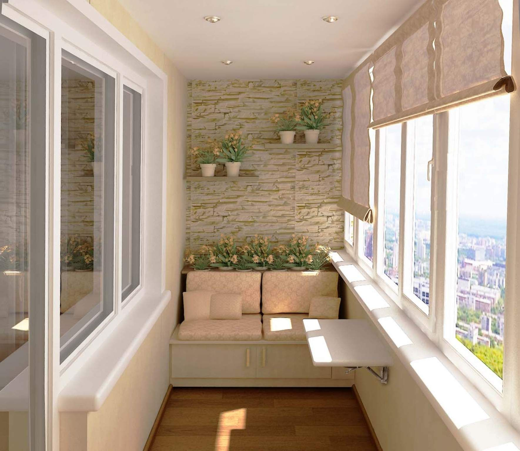 Дизайнерский ремонт балкона.