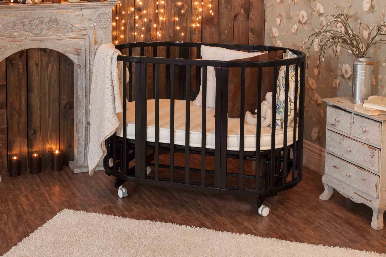 Круглая кроватка-трансформер для новорожденного