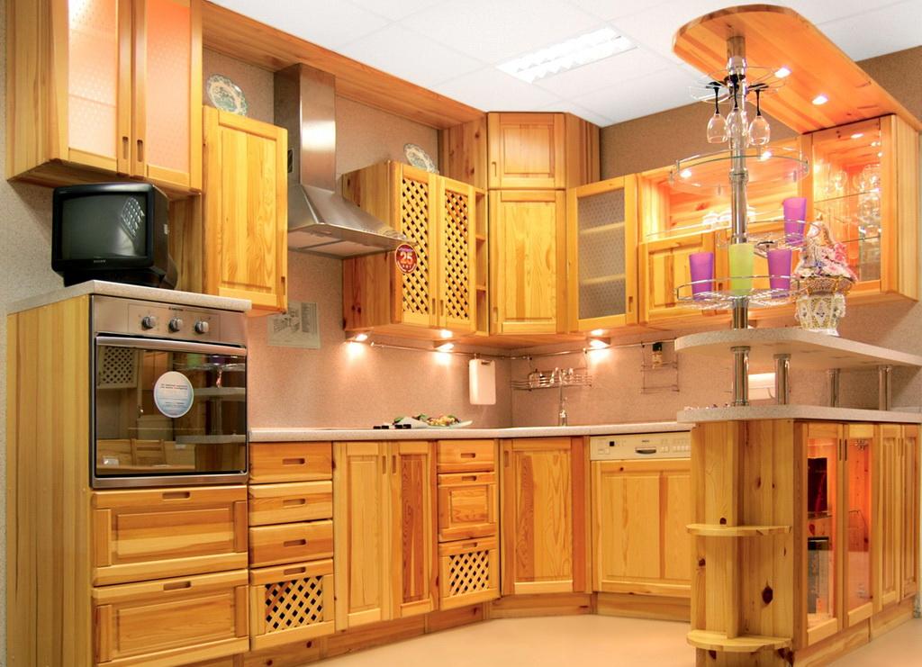 Кухонный гарнитур из мебельных щитов своими руками 23