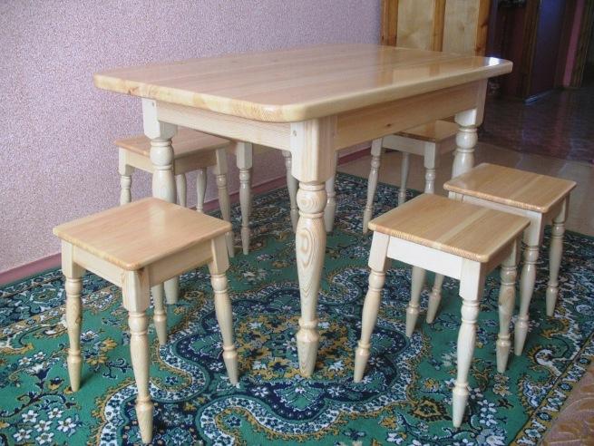 Самодельный кухонный стол из дерева своими руками 14