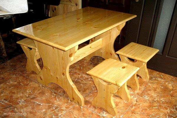 Деревянные кухонные столы своими руками