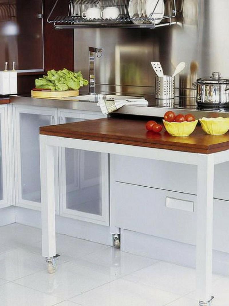 Стол-тумба для кухни (46 фото): кухонная напольная модель со.