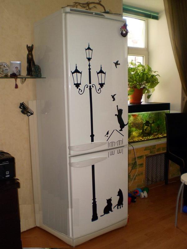 Декорирование холодильника своими руками фото