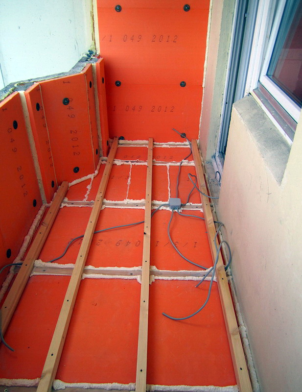 Утепление балкона пола пошаговая инструкция
