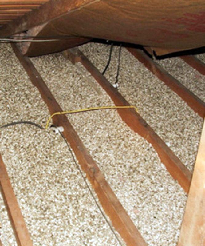 Утепление потолка вермикулитом в частном доме