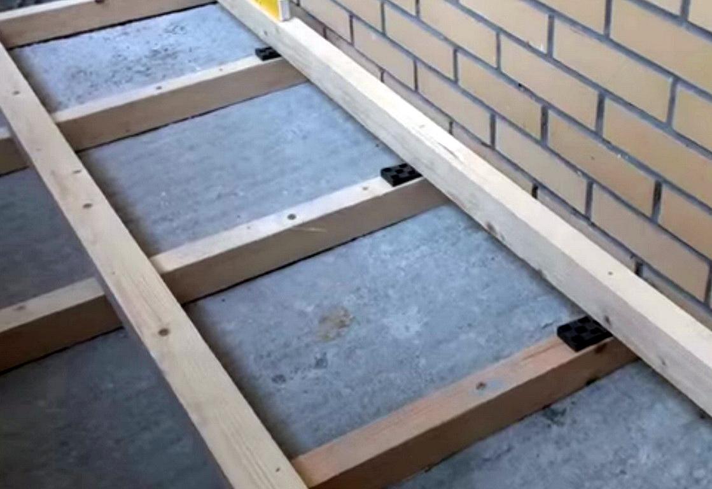 Пол на балконе пошаговая инструкция по применению