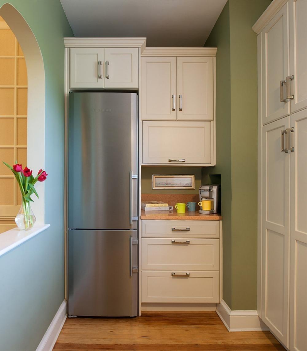 как сделать кухонный шкаф над холодильником фото это