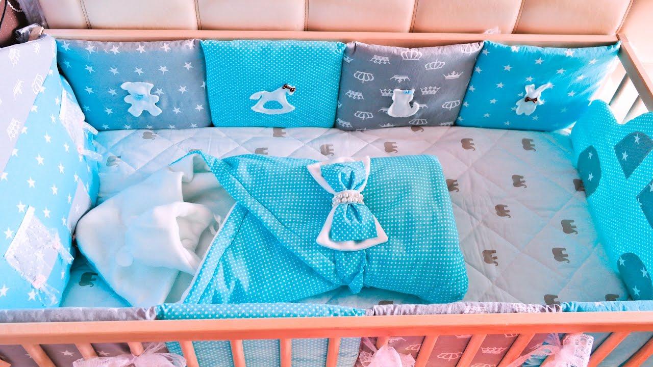 Бортики для детской кроватки своими руками мастер 942