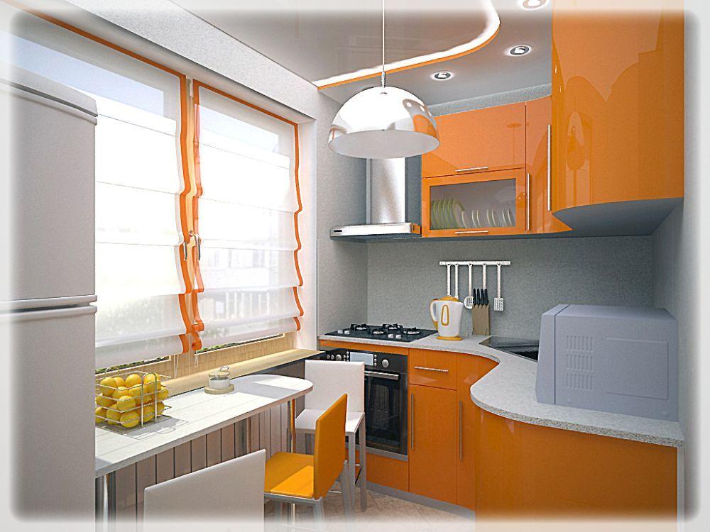 Кухня 6 кв.м дизайн с холодильником в хрущевке
