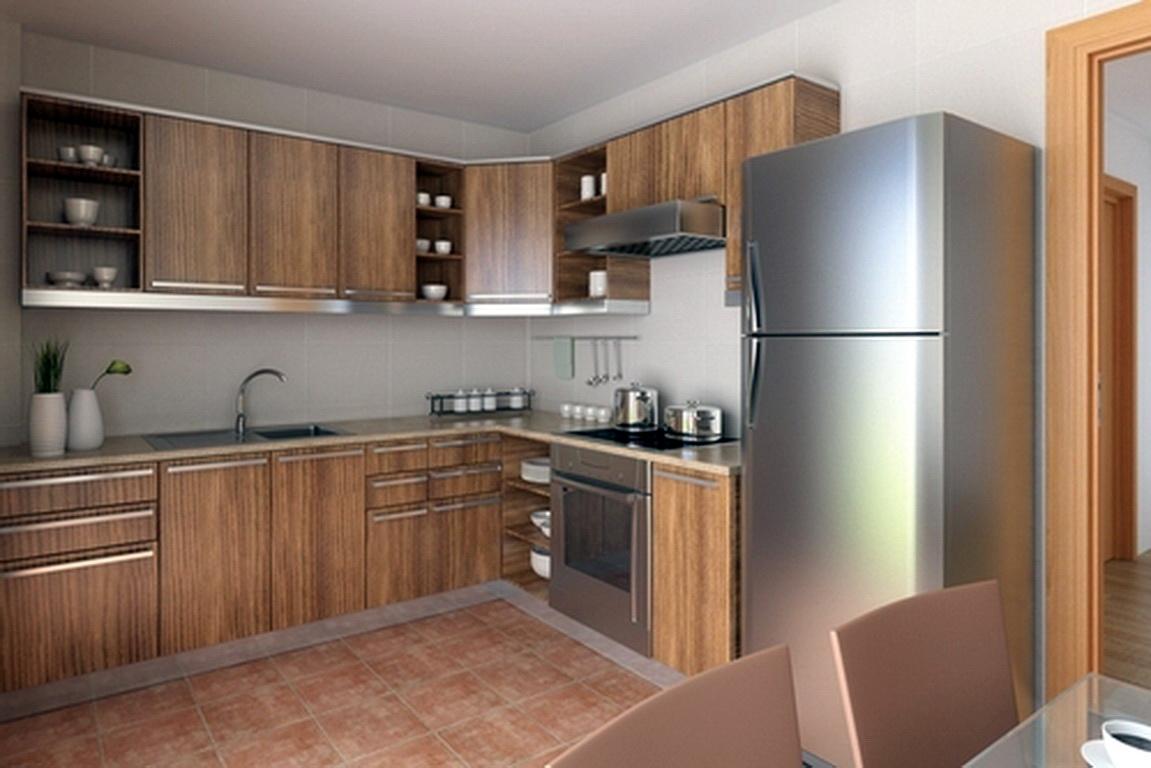 Кухни 45 кв м дизайн с холодильником