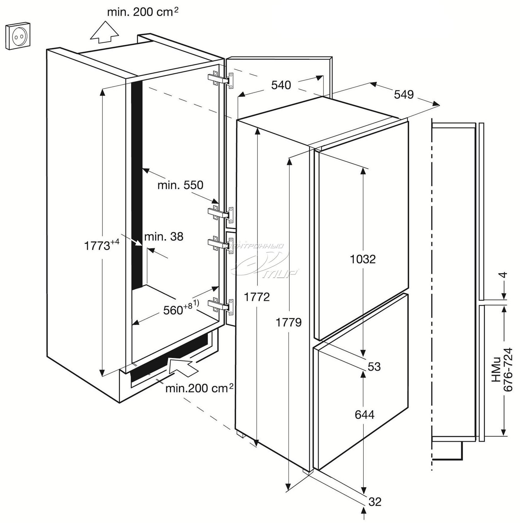 стандартные размеры холодильника стандарты ширины высоты и глубины