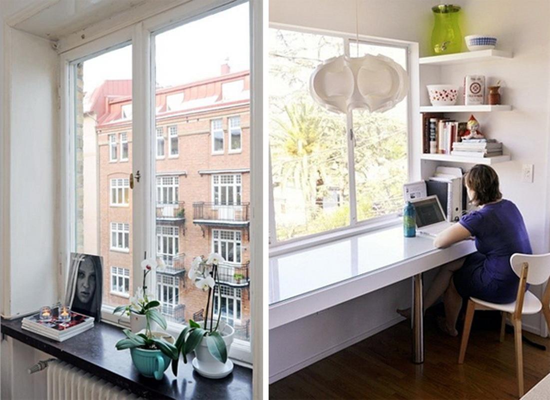 Стол у окна в детской комнате (45 фото): письменный стол со .