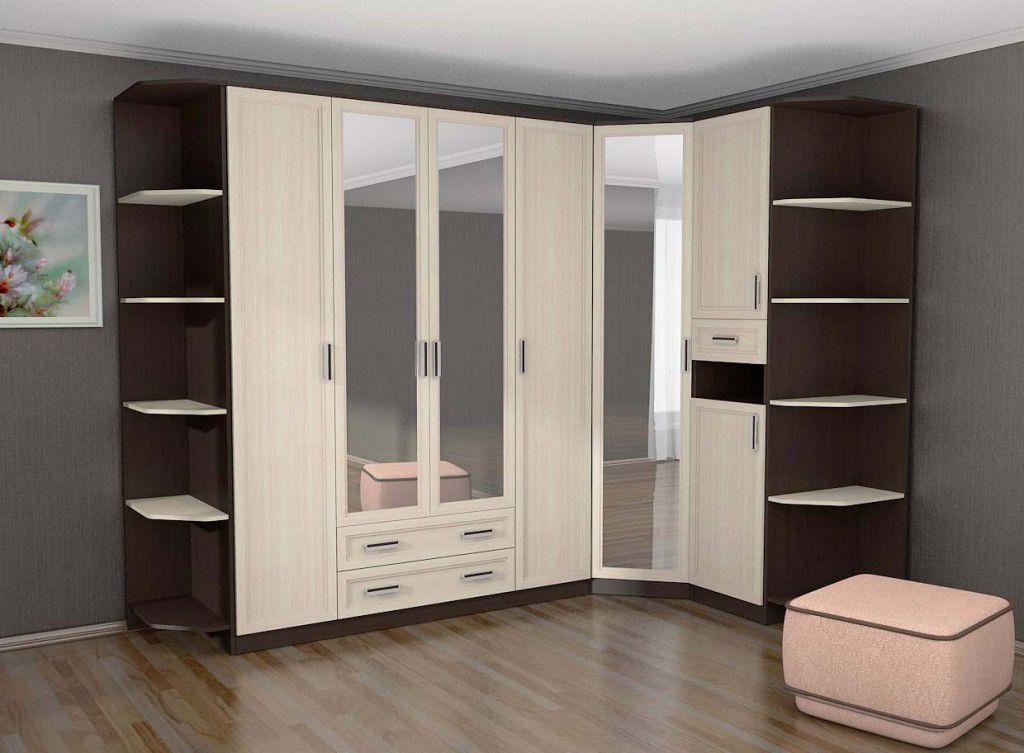 Угловой шкаф купе в спальню: как правильно выбрать — разновидности