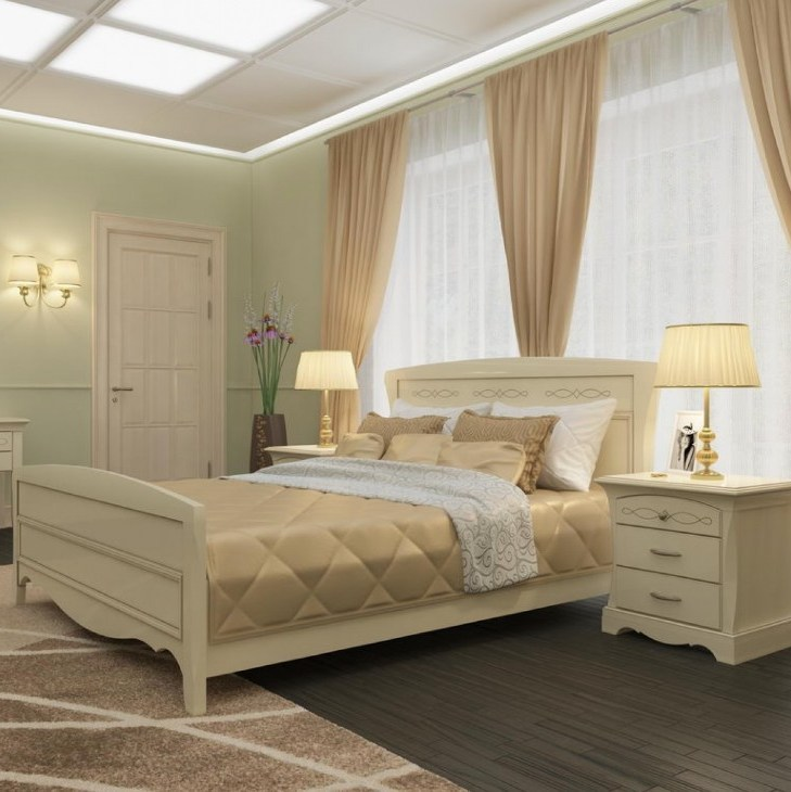Какие обои выбрать в спальню с коричневой мебелью
