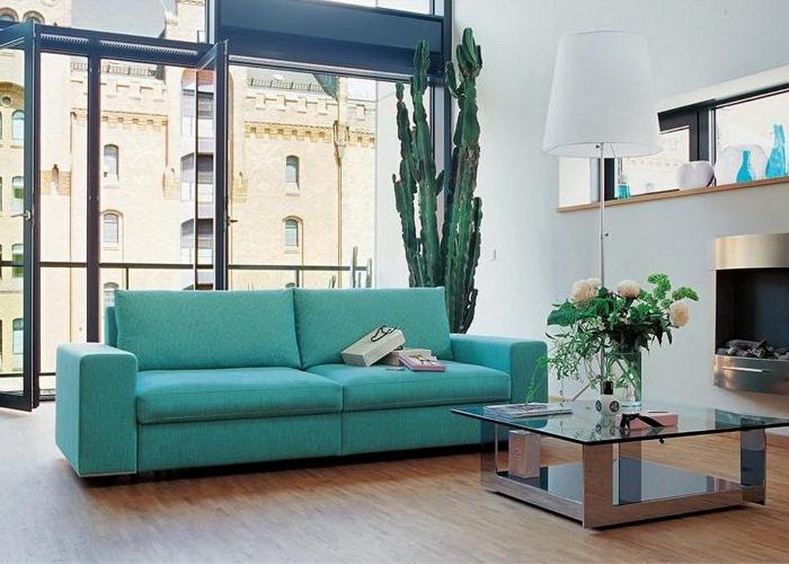 Цвет дивана в мятном интерьере
